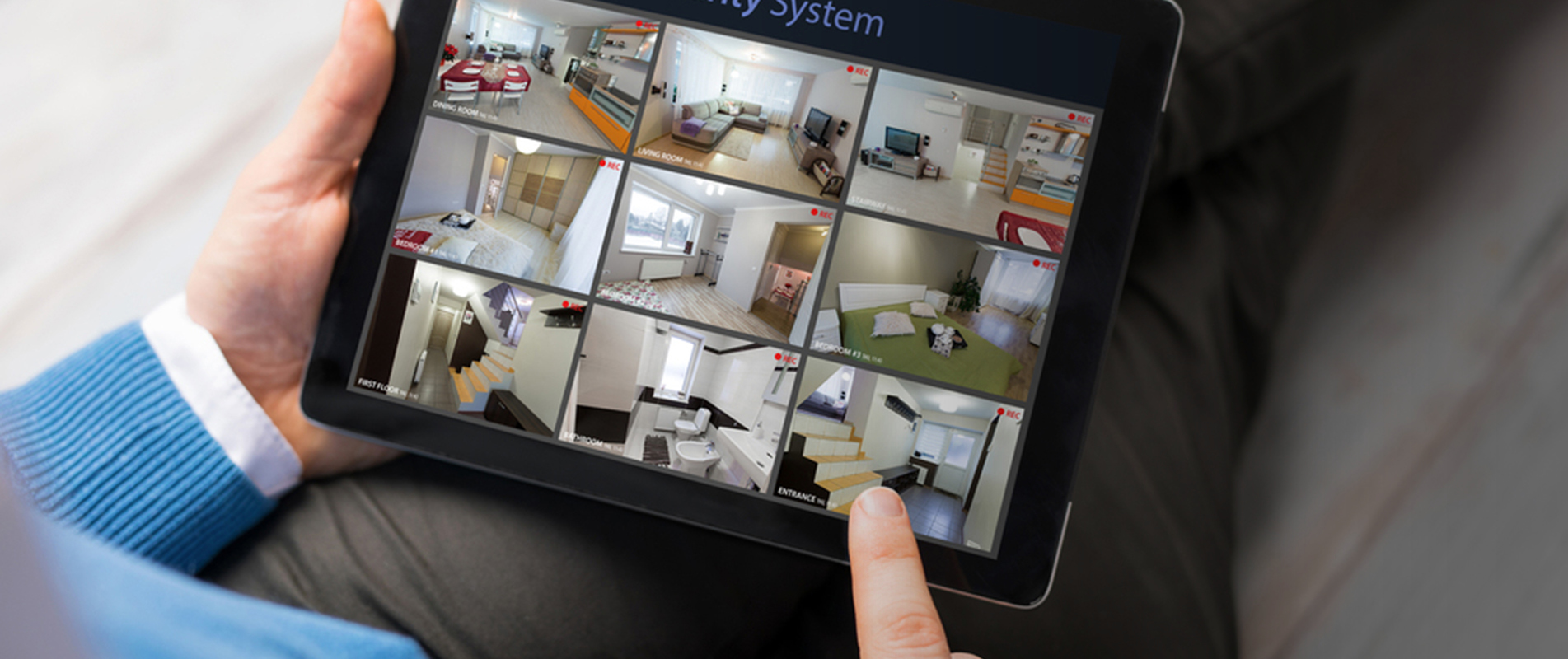 home cctv system on ipad
